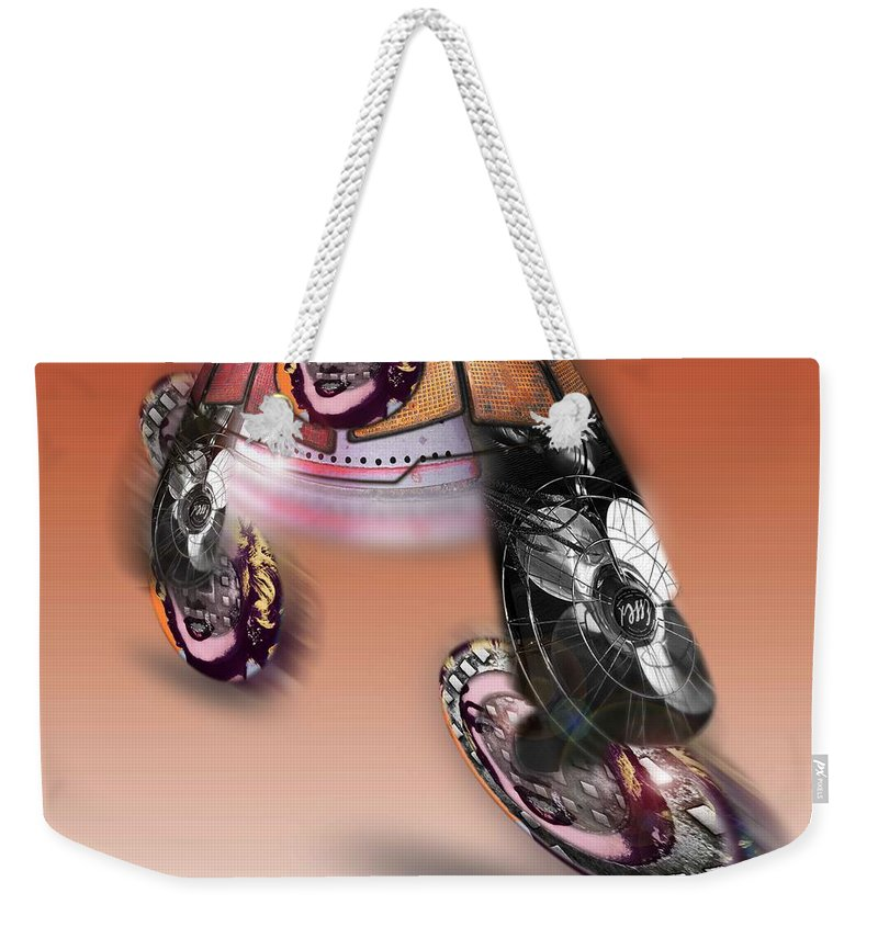 Pop Weekender Tote Bag featuring the painting Fan Dance by Charles Stuart