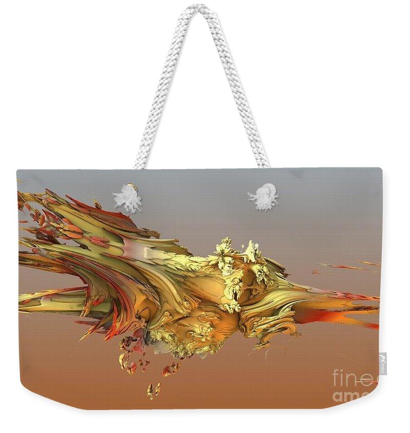 Fractal Weekender Tote Bag featuring the digital art Fractal Life by Ron Bissett
