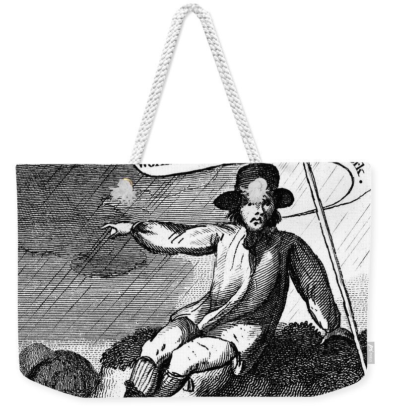 1807 Weekender Tote Bag featuring the photograph Franklin: Way To Wealth by Granger