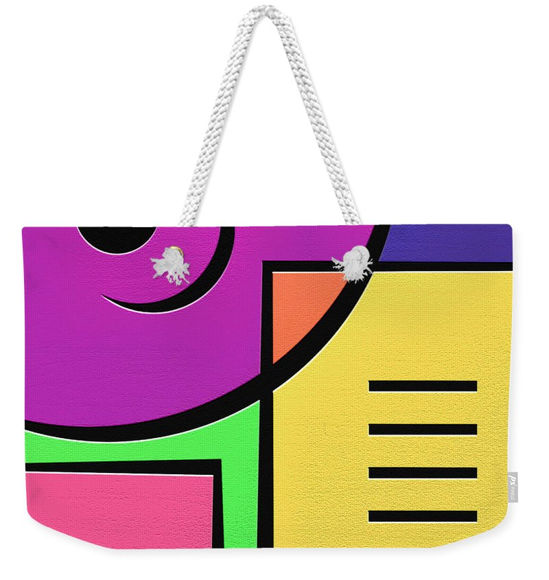 Abstract Art Weekender Tote Bag featuring the digital art Games by Ely Arsha