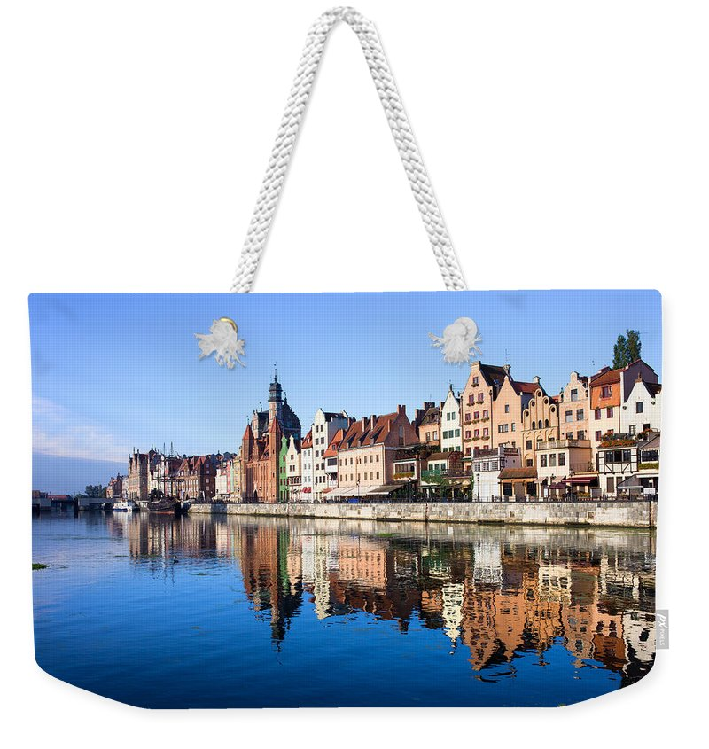 Gdansk Weekender Tote Bag featuring the photograph Gdansk Old Town And Motlawa River by Artur Bogacki