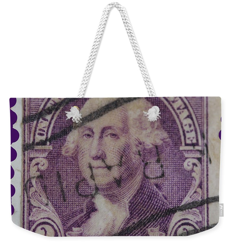 George Washington Postage Stamp Weekender Tote Bag featuring the photograph George Washington Postage Stamp by James Hill