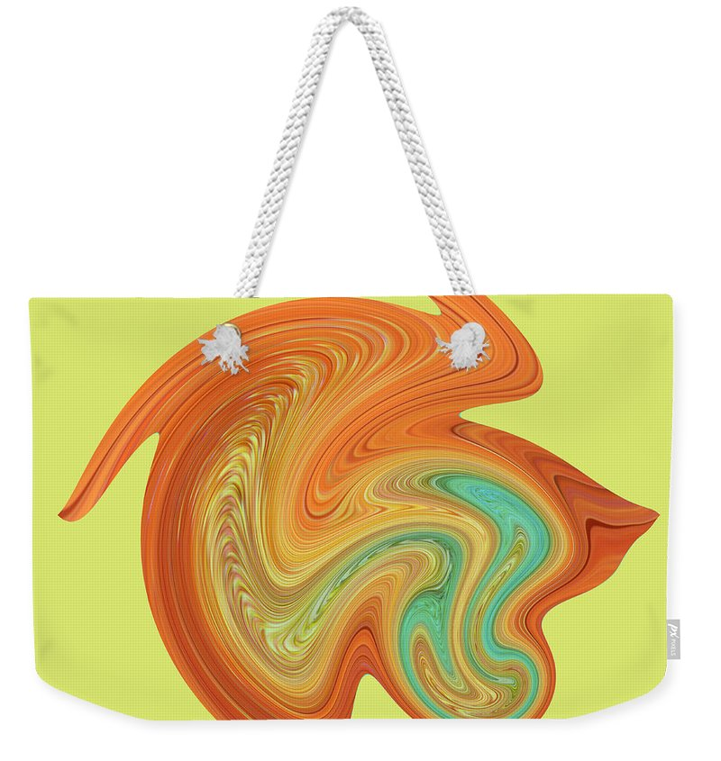 Gerbera Weekender Tote Bag featuring the photograph Gerbera Abstract by Chris Day