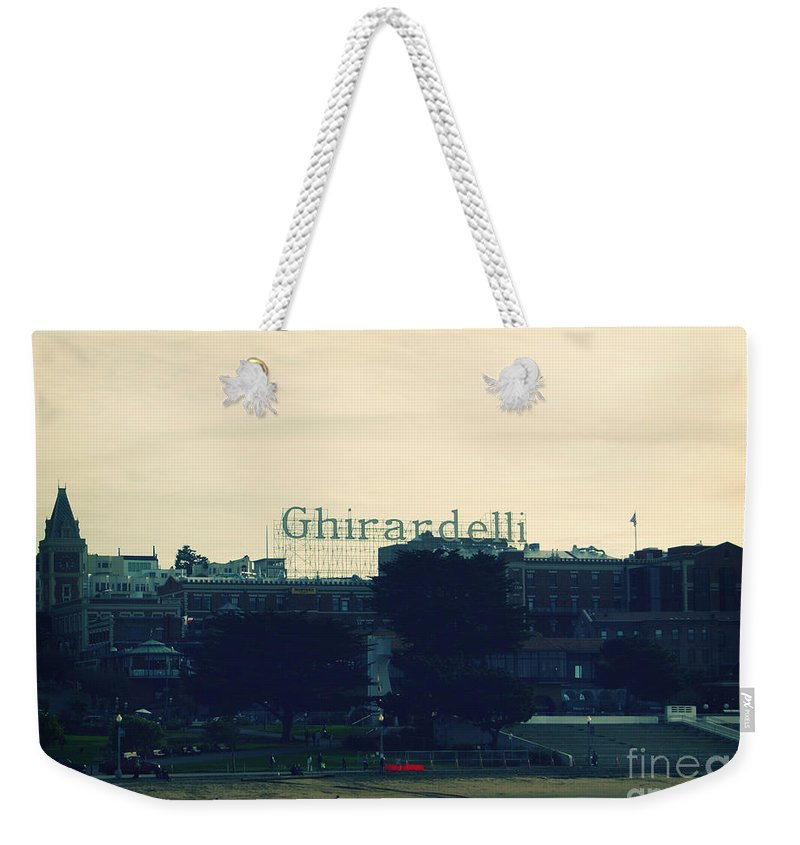 Ghirardelli Square Weekender Tote Bag featuring the photograph Ghirardelli Square by Linda Woods