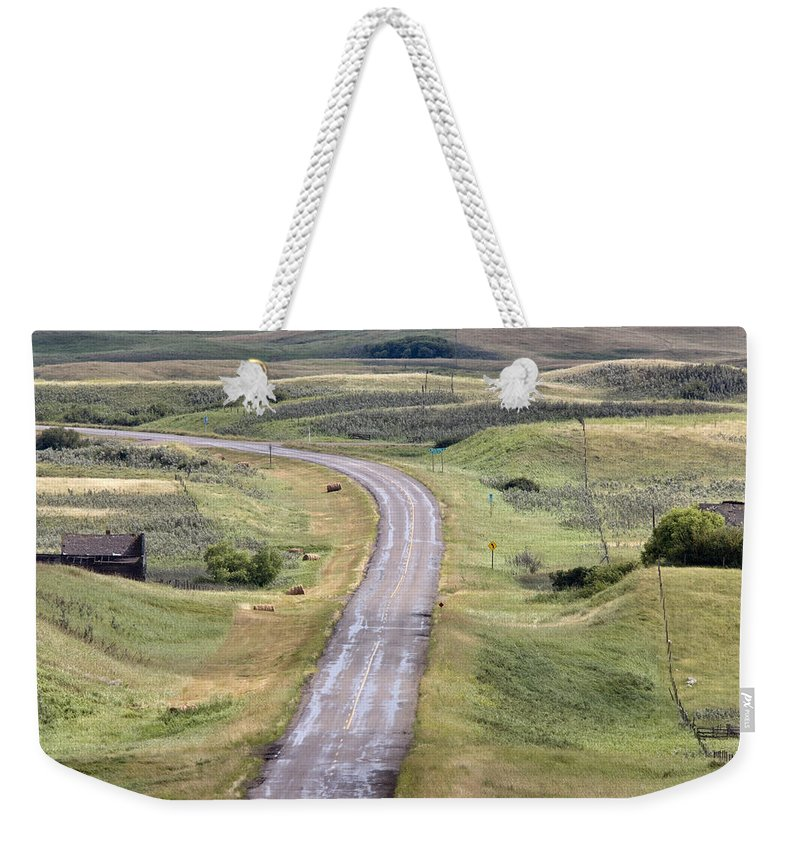 Old Weekender Tote Bag featuring the photograph Ghost Town Galilee Saskatchewan by Mark Duffy