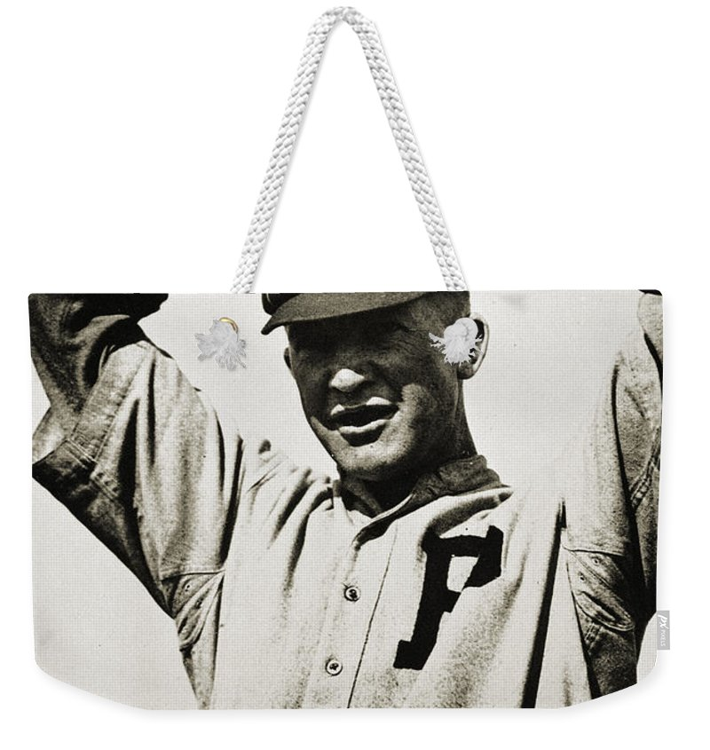 20th Century Weekender Tote Bag featuring the photograph Grover Cleveland Alexander by Granger