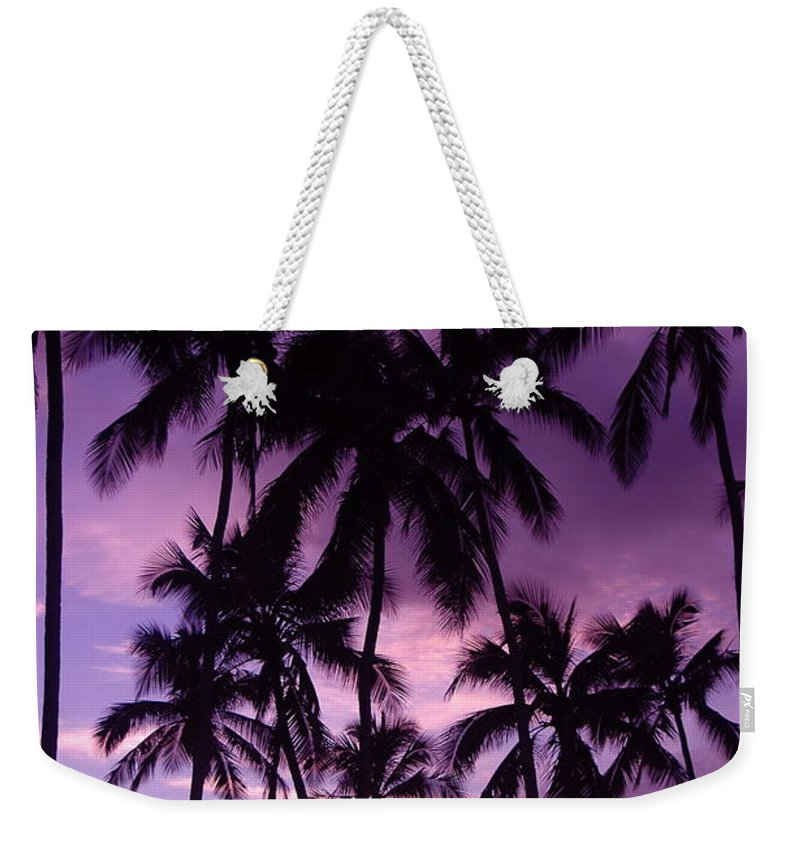 Sunset Weekender Tote Bag featuring the photograph Haleiwa by Mark Gilman