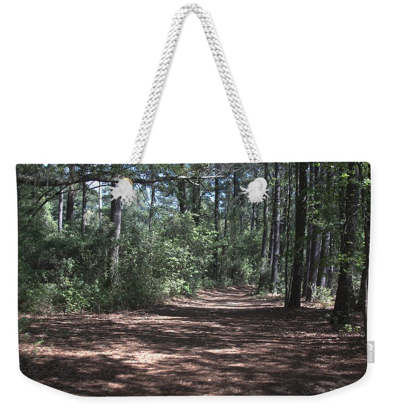 Landscape Weekender Tote Bag featuring the photograph Horse Path by Jean Macaluso