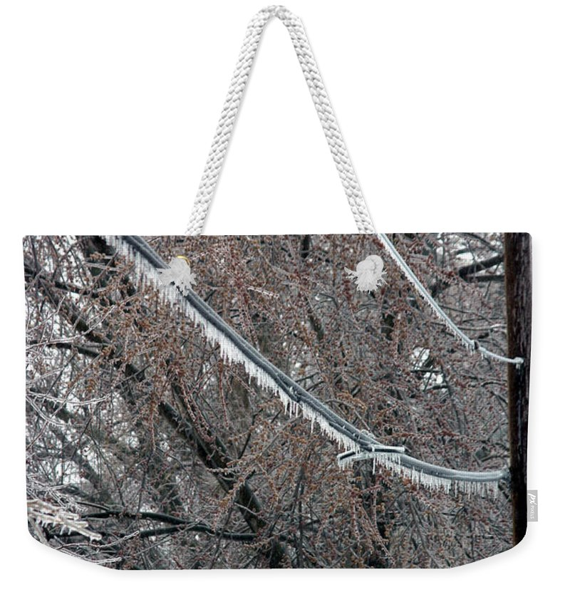 Ice Storm Weekender Tote Bag featuring the photograph Ice Storm by Ted Kinsman