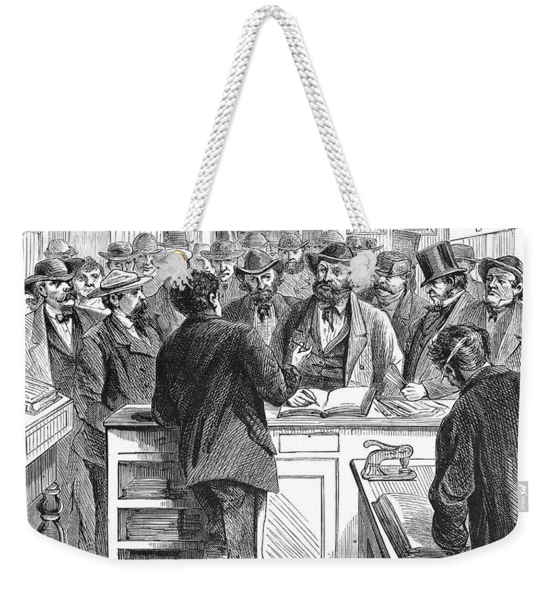 1868 Weekender Tote Bag featuring the photograph Immigration: Citizenship by Granger