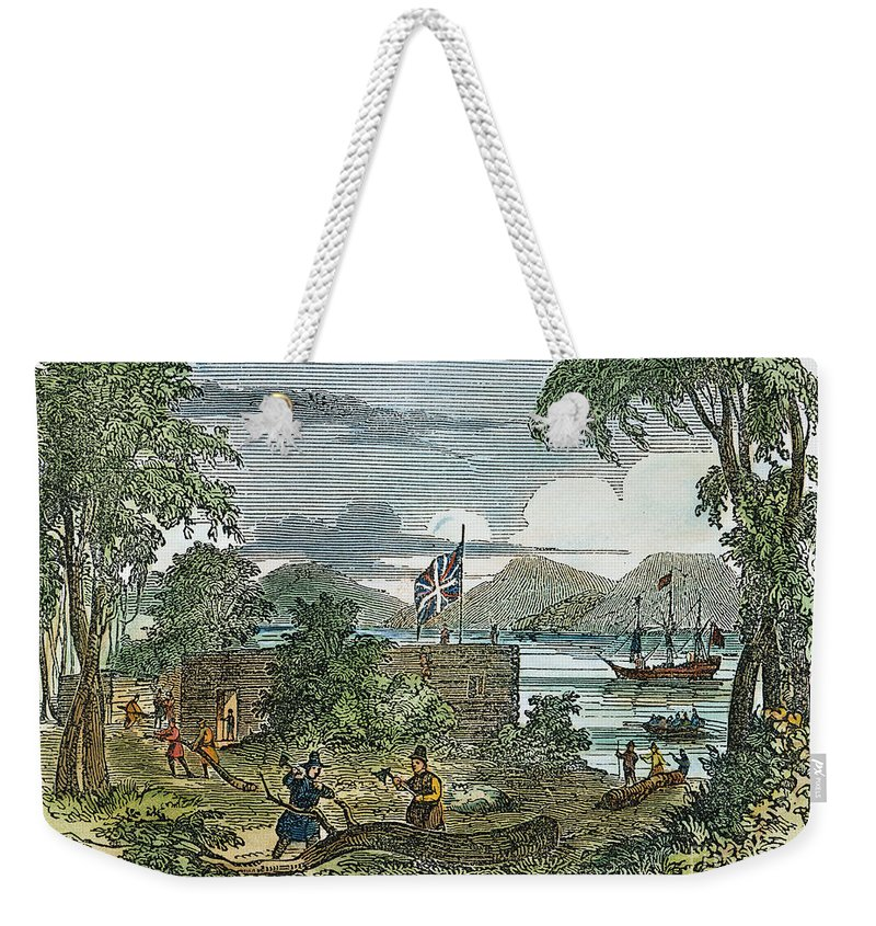 1607 Weekender Tote Bag featuring the photograph Jamestown by Granger