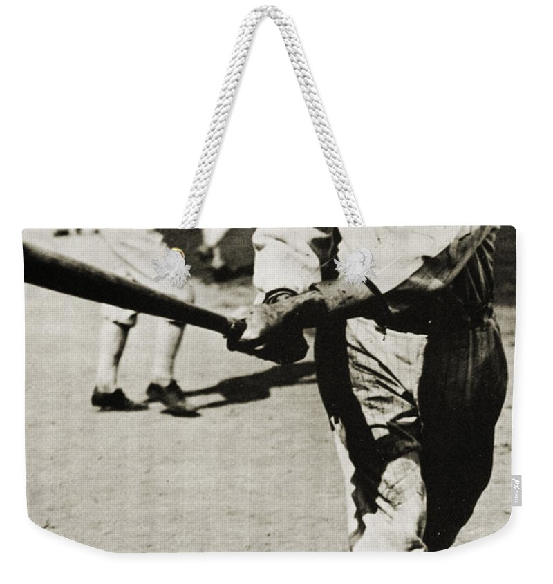 20th Century Weekender Tote Bag featuring the photograph Joe Jackson (1889-1991) by Granger