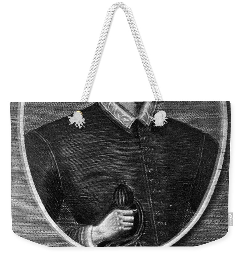 1591 Weekender Tote Bag featuring the photograph John Donne (1573-1631) by Granger