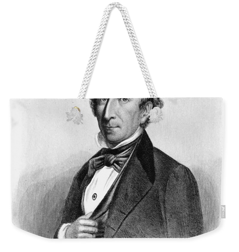 19th Century Weekender Tote Bag featuring the photograph John Tyler (1790-1862) by Granger