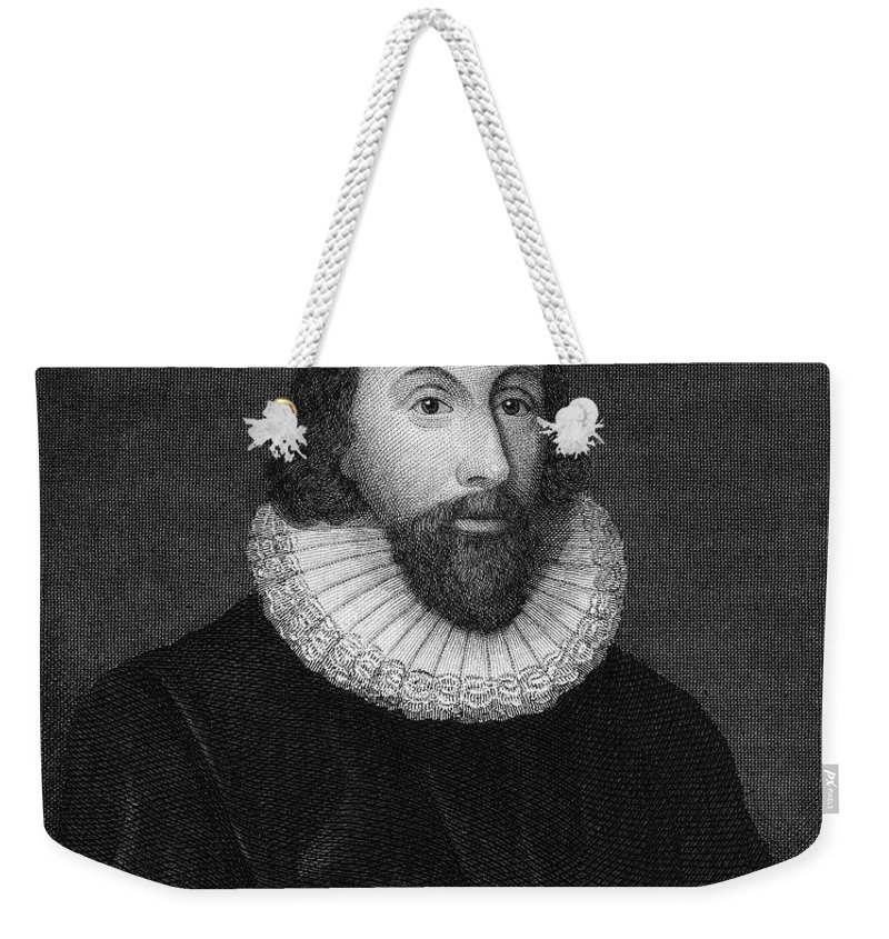 16th Century Weekender Tote Bag featuring the photograph John Winthrop (1588-1649) by Granger