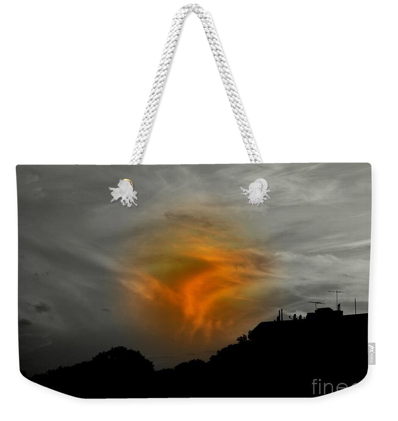 Sunset Weekender Tote Bag featuring the photograph July 4 2009 by Mark Gilman