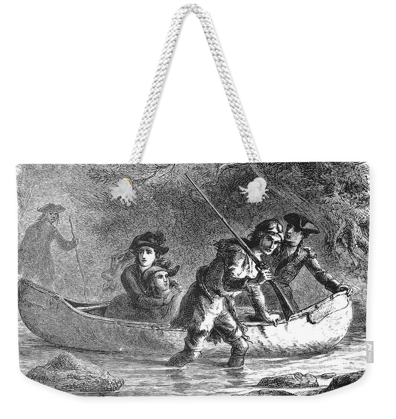 1872 Weekender Tote Bag featuring the photograph Last Of The Mohicans, 1872 by Granger