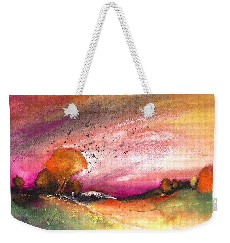 Landscapes Weekender Tote Bag featuring the painting Late Afternoon 23 by Miki De Goodaboom