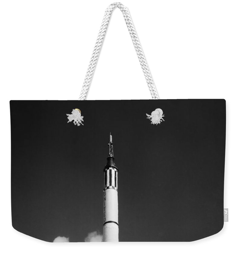 1961 Weekender Tote Bag featuring the photograph Launching Of The Mercury-redstone 3 by Stocktrek Images