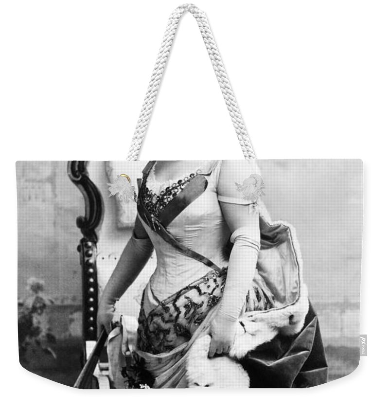 1890 Weekender Tote Bag featuring the photograph Lillian Russell (1861-1922) by Granger