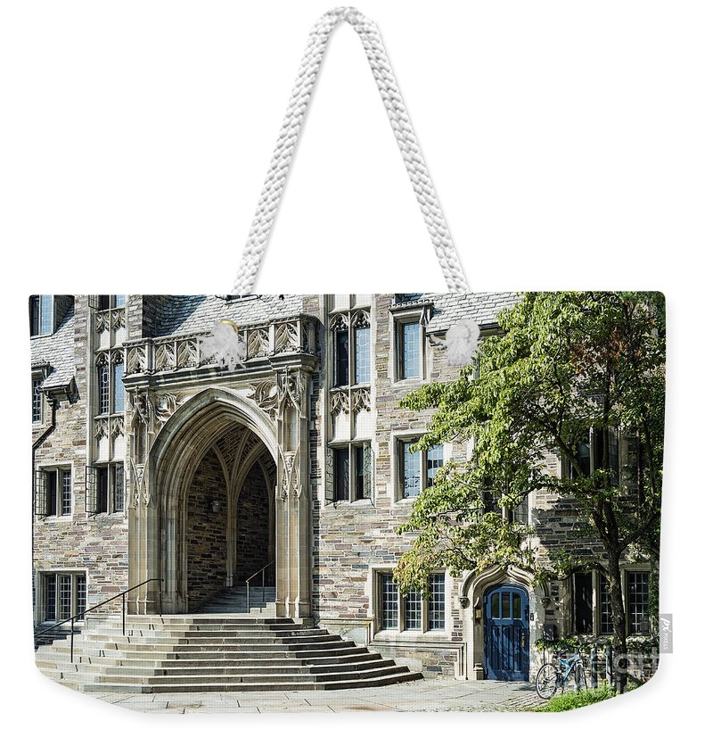 Lockhart Hall Weekender Tote Bag featuring the photograph Lockhart Hall Princeton by John Greim