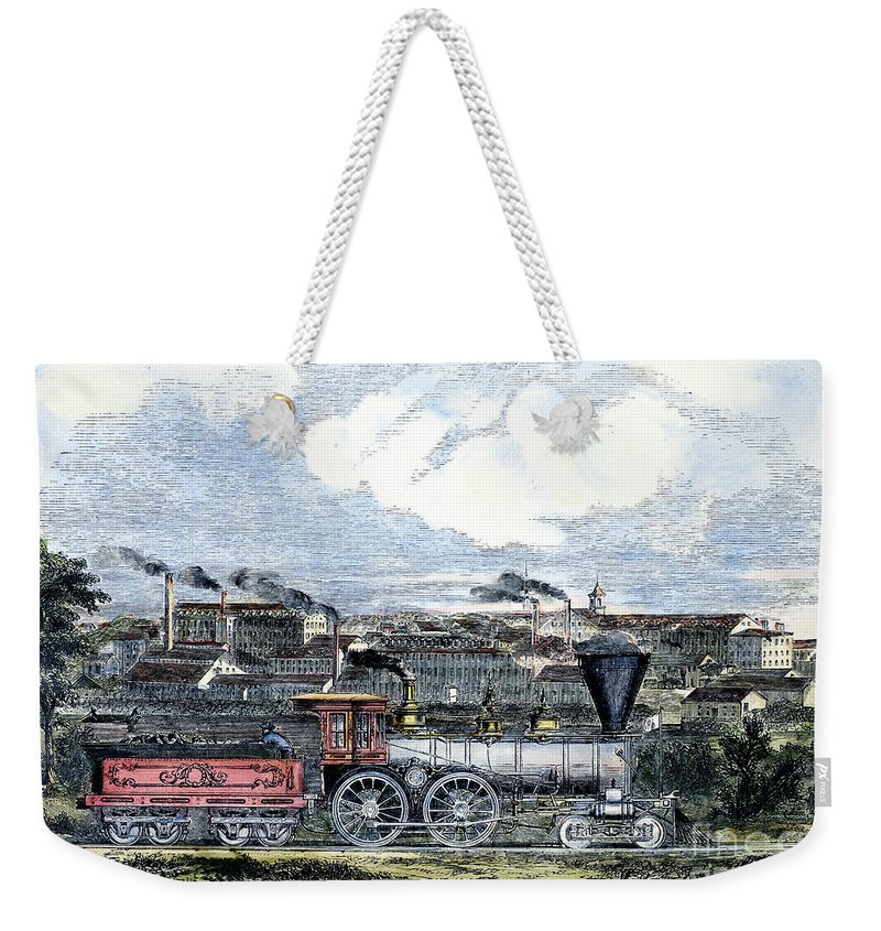 1855 Weekender Tote Bag featuring the photograph Locomotive Factory, C1855 by Granger