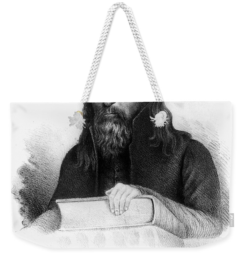 1834 Weekender Tote Bag featuring the photograph Lorenzo Dow (1777-1834) by Granger