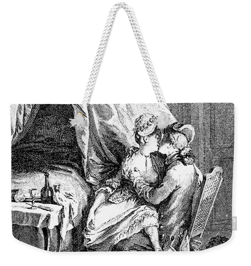 18th Century Weekender Tote Bag featuring the photograph Lovers, 18th Century by Granger