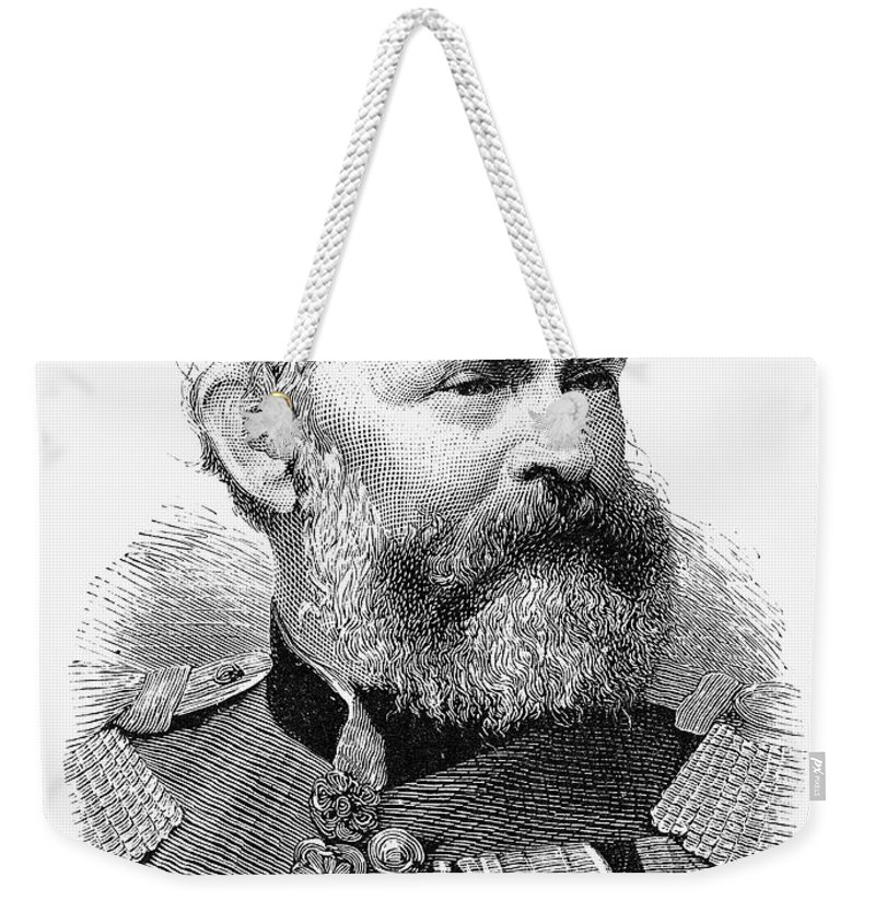 1886 Weekender Tote Bag featuring the photograph Luitpold (1821-1912) by Granger