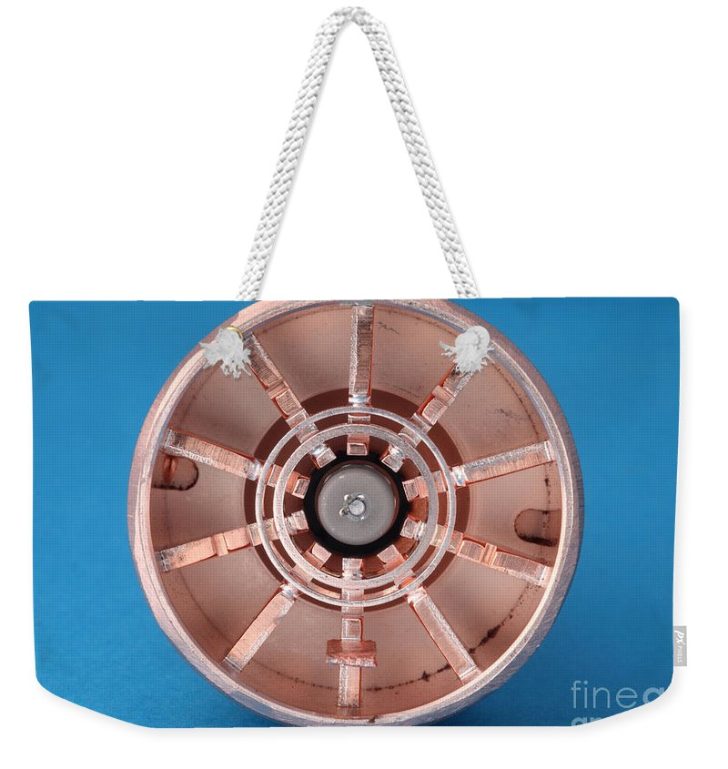 Microwave Weekender Tote Bag featuring the photograph Magnetron by Ted Kinsman