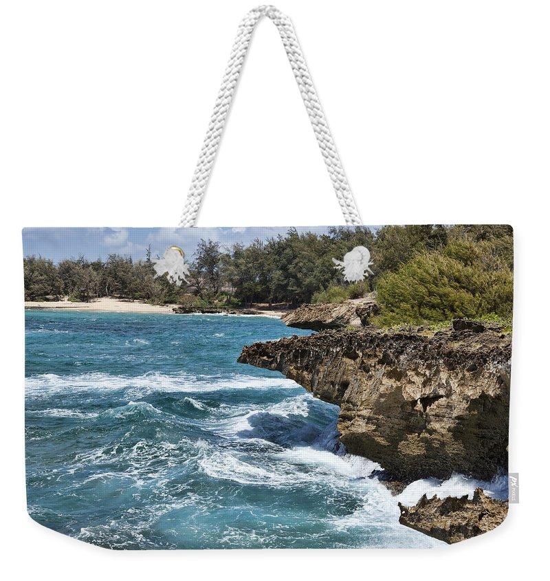 Mahaulepu Weekender Tote Bag featuring the photograph Mahaulepu Beach by Kelley King