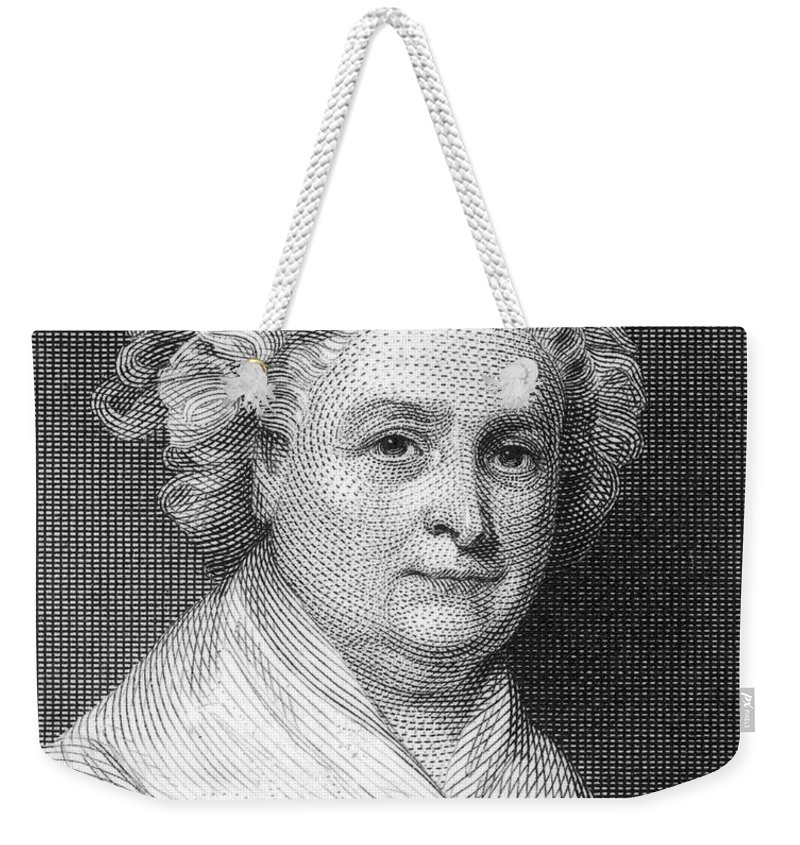 18th Century Weekender Tote Bag featuring the photograph Martha Washington by Granger