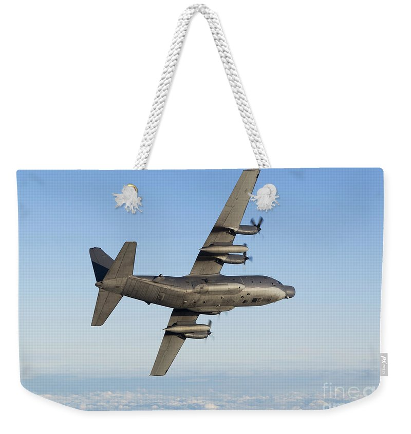 Transportation Weekender Tote Bag featuring the photograph Mc-130h Combat Talon by Gert Kromhout