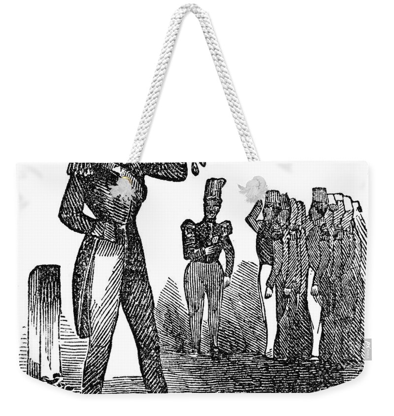 1840s Weekender Tote Bag featuring the photograph Mexican War: Soldiers by Granger