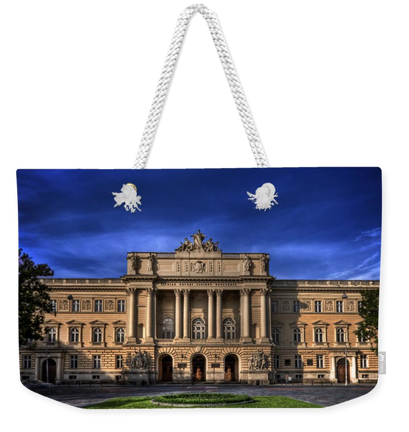 Indigo Weekender Tote Bag featuring the photograph Mood Indigo by Evelina Kremsdorf