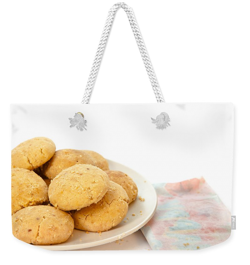 Afternoon Weekender Tote Bag featuring the photograph Moroccan Biscuits by Tom Gowanlock