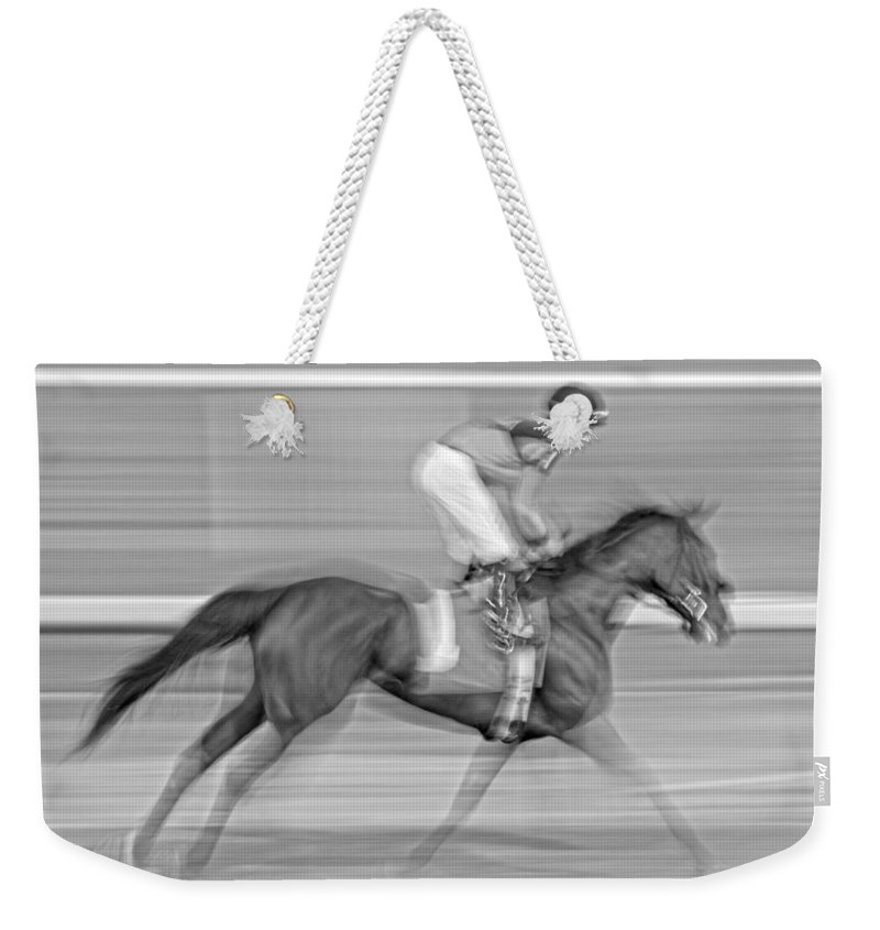 Horse Weekender Tote Bag featuring the photograph Motion by Betsy Knapp