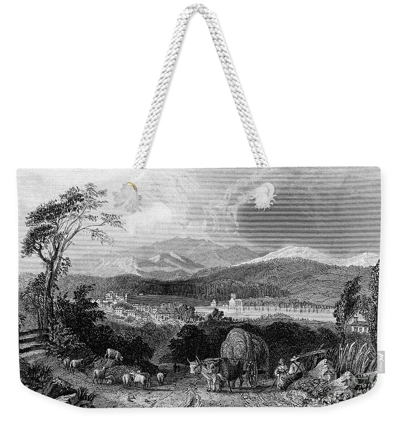 1839 Weekender Tote Bag featuring the photograph New Hampshire, 1839 by Granger