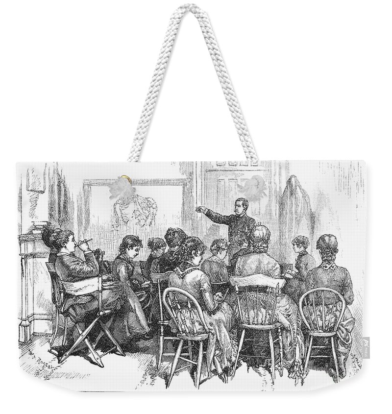 1882 Weekender Tote Bag featuring the photograph New York: Medical College by Granger