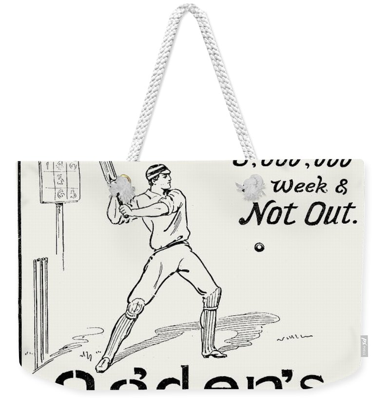 1897 Weekender Tote Bag featuring the photograph Ogdens Cigarettes, 1897 by Granger