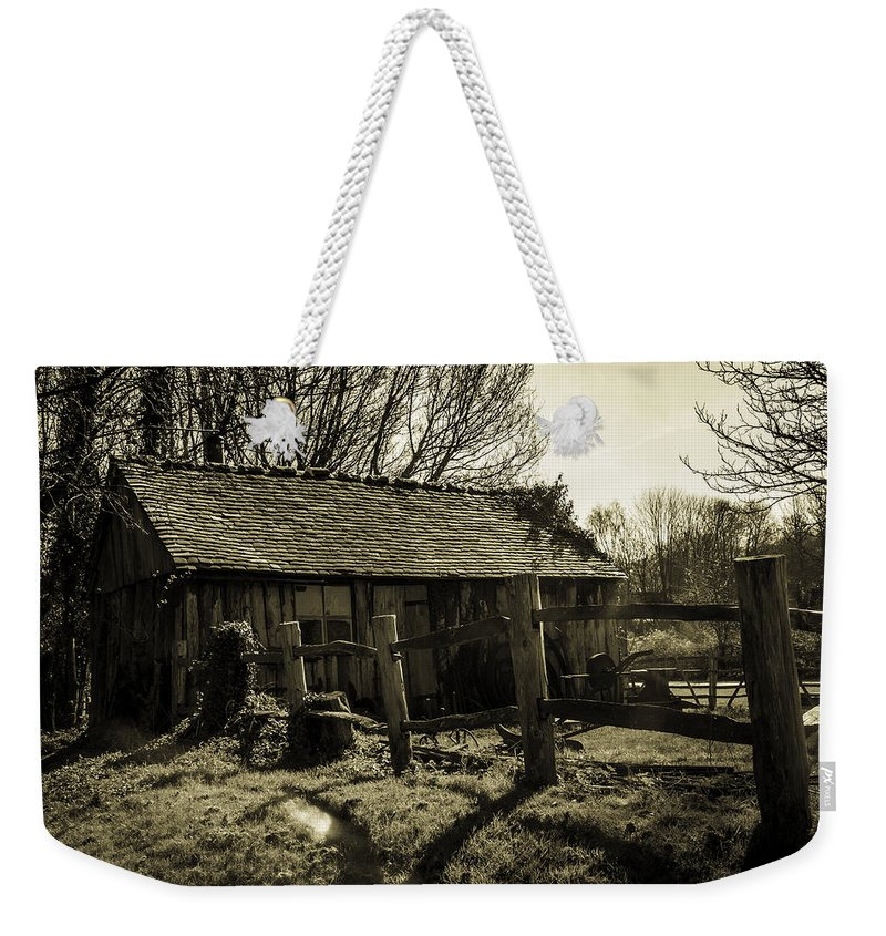 Shed Weekender Tote Bag featuring the photograph Old Fashioned Shed by Dawn OConnor