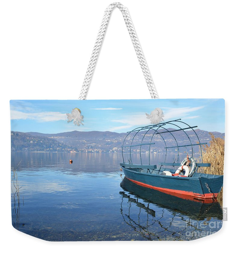 Fishing Weekender Tote Bag featuring the photograph Old Fishing Boat by Mats Silvan