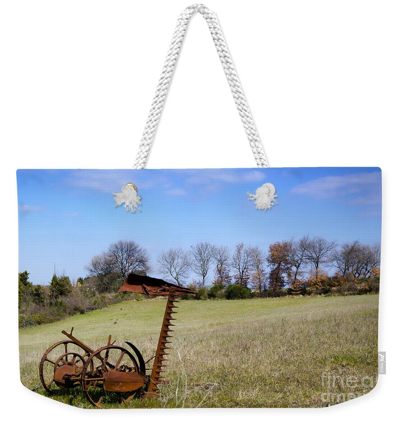Plow Weekender Tote Bag featuring the photograph Old Plow by Mats Silvan