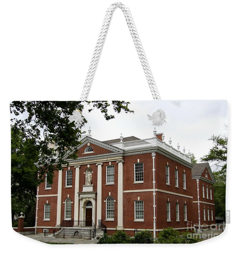 Brick House Weekender Tote Bag featuring the photograph Old Town Philadelphia by Christiane Schulze Art And Photography
