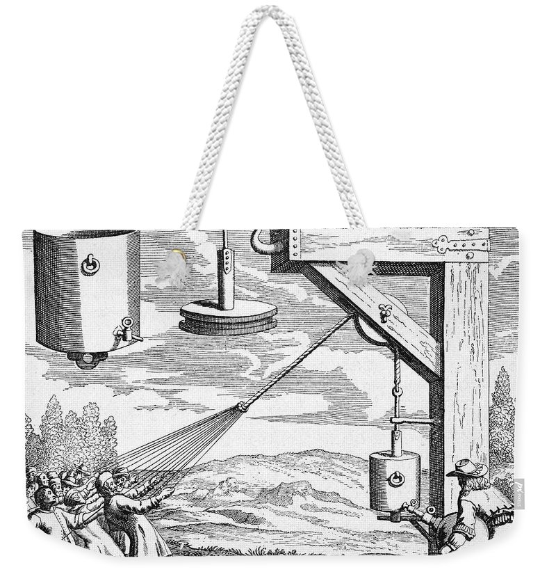 1672 Weekender Tote Bag featuring the photograph Otto Von Guericke, 1672 by Granger