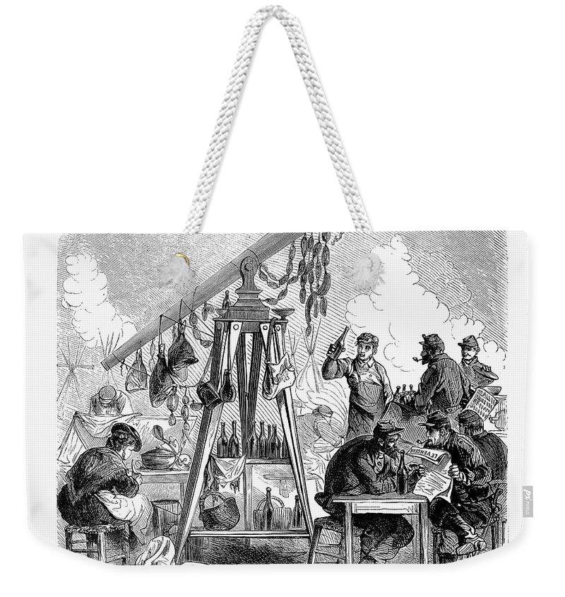 1871 Weekender Tote Bag featuring the photograph Paris Commune, 1871 by Granger