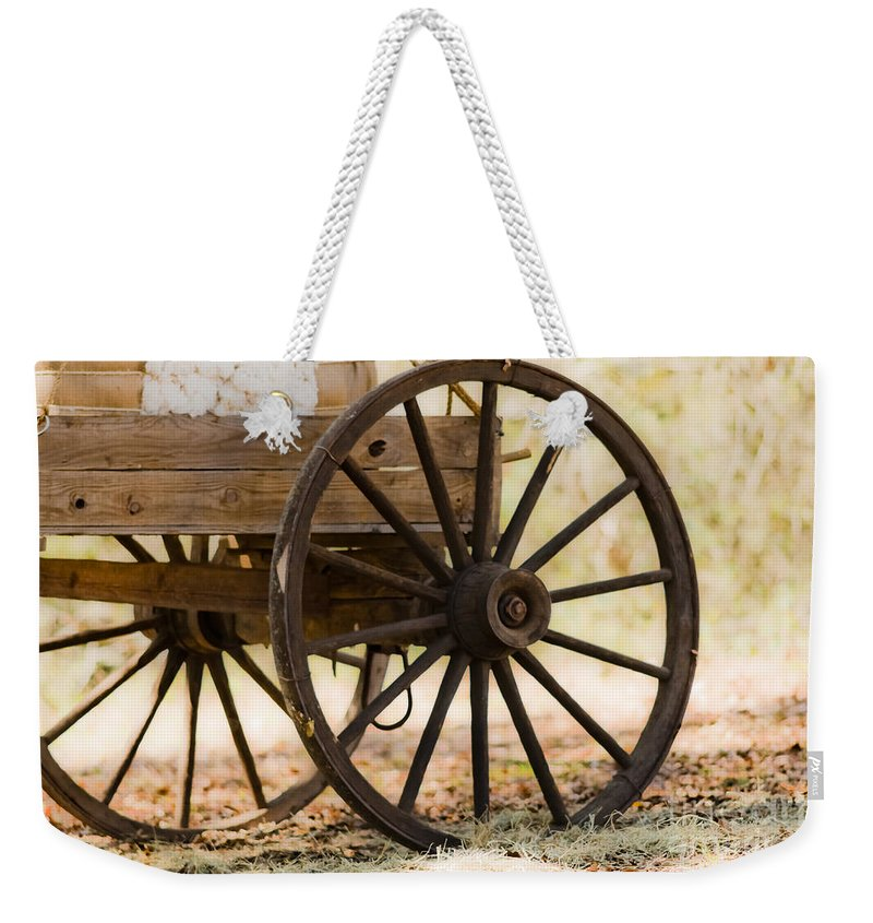 Wagon Wheels Weekender Tote Bag featuring the photograph Passing Through 1 by Kim Henderson
