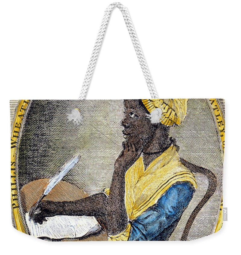 1773 Weekender Tote Bag featuring the photograph Phillis Wheatley by Granger
