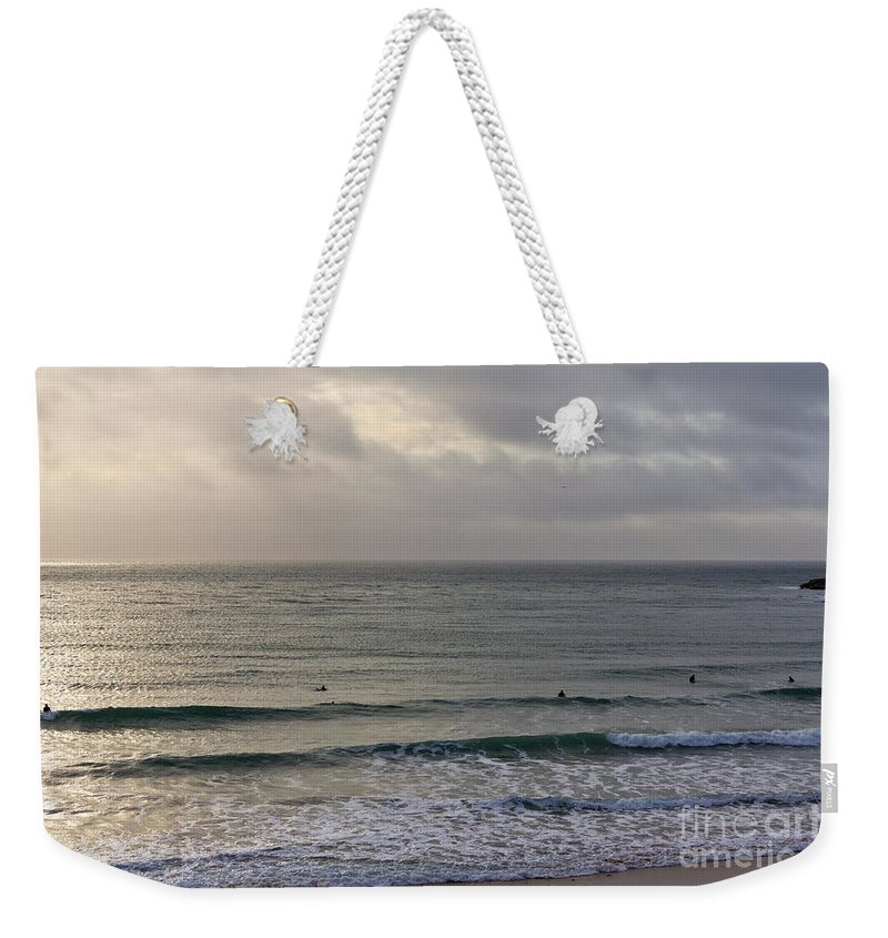 Praa Sands Cornwall Weekender Tote Bag featuring the photograph Praa Sands by Brian Roscorla