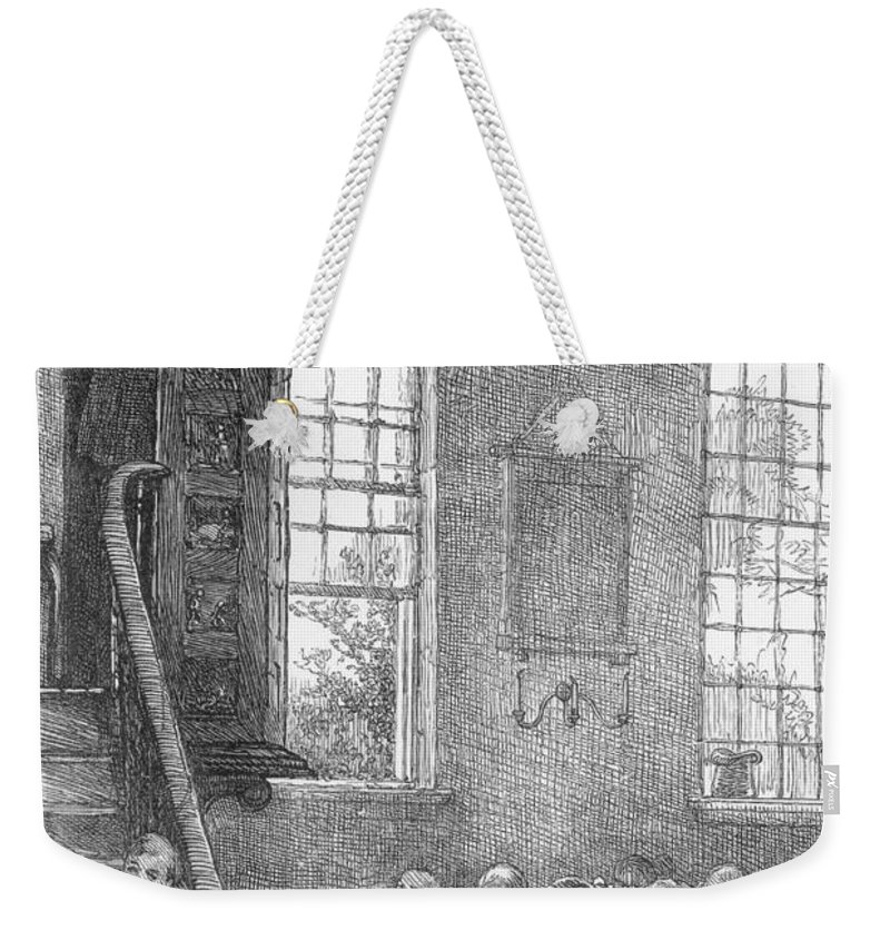 19th Century Weekender Tote Bag featuring the photograph Preacher, 19th Century by Granger